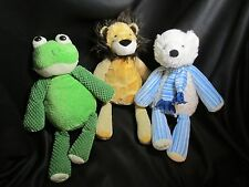 """3 Full Size Scentsy Buddy Polar Bear Plush and Frog 16"""" Stuffed Animal no scent"""