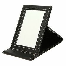 LIAMTU Portable Handheld Mirrors Beauty PU Leather Makeup Compact Folding Tab