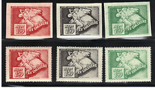 Hungary Stamp Collecting Guild 75 Anniversary Labels Cinderella