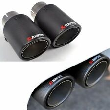 1 PAIR rapovic Style Carbon Fiber Exhaust Muffler Pipe Tip Fr Universal Auto Car