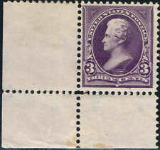 #268 LEFT CORNER MARGIN SINGLE 1895 3 CENT JACKSON BUREAU ISSUE MINT-OG/NH