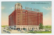 Hotel Faust, Rockford, IL, old cars
