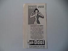 advertising Pubblicità 1959 DENTIFRICIO ODOL