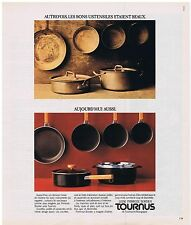 PUBLICITE ADVERTISING 104 1977 TOURNUS casseroles marmites plats