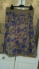 Fat Face size 10 printed floral pattern knee length skirt, Lined