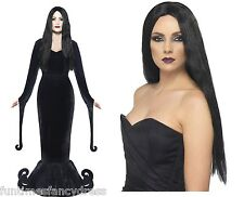 Halloween Morticia Deluxe Costume & Wig Medium 12-14 Fancy Dress Next Day Del