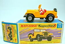 Matchbox SF Nr.72A Standart Jeep gelb runde Ballonräder top in Box