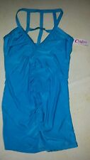 Dreamgirl Lingerie TURQUOISE Nightgown CINDIE'S Lattice Back LARGE Sexy NEW
