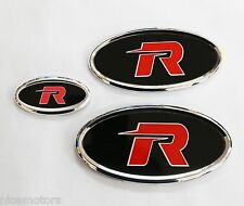 R EMBLEM Badge Grille Trunk Horn 3EA 1Set For KIA All New Rondo Carens 2013 2014