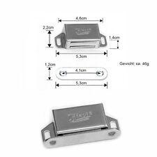 4x Edelstahl 53mm Magnet Schnäpper Magnetschnapper Türmagnet Möbelmagnet