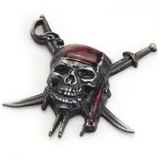 Gray Pirates Skull Cross Knives Symbol Emblem Car Auto Body 3D Metal Decal Badge