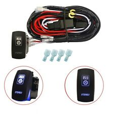 40A Wiring Harness Relay Fuse Switch On-Off Stereo Car Driving Work Fog Lights