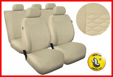 CAR SEAT COVERS full set fits Audi A3 A4 A6 A8 Universal - beige (MP3)