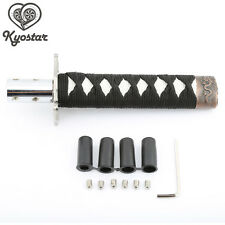 Universal 150mm Samurai Sword Gear Shift Knob Shifter Katana Metal Black+White