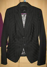 Black pinstripe suit jacket size 6