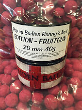 Boilies Pop Up Maiden Baits Ronny's No.1 -Fruitgun -40g- 20mm- Neu  TOP