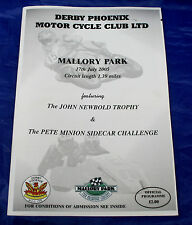 Derby Phoenix MCC Ltd. Mallory Park Programme 17th July 2005 - Newbold Trophy