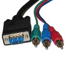 10Ft Premium VGA to 3RCA RGB Component Video Cable