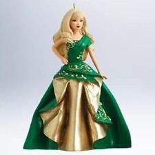 Hallmark Series Ornament 2011 Celebration Barbie #12 Green Gold Dress QX8889-SDB