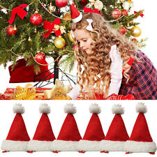 Christmas Party Accessory Red Mini Santa Hat Xmas Festive Novelty Hair Clip