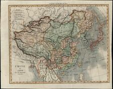 China Japan Korea Tibet Mongolia Siam Taiwan 1837 antique hand color map