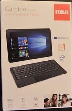 "NEW - 2016 RCA Cambio 10"" 2-in-1 Win10 TOUCH Tablet Detachable Keyboard"