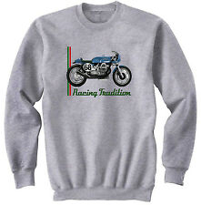 MOTO GUZZI CAFE RACER 2 - NEW COTTON GREY SWEATSHIRT ALL SIZES IN STOCK