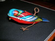 """VINTAGE TIN WIND UP BIRD MOTORIZED LITHOGRAPH GERMANY PAT DEC 27 1927 WORKS 5"""""""
