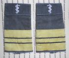 Schulterklappen Sani Marine Navy Stabsarzt gold oliv getragen ##1748