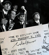 RARE 1964 BEATLES Signed Play List Ed Sullivan Show Autographed New York+ Photo