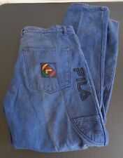 FILA Men's VINTAGE Carpenter Blue Jeans Size 36 x 34 Hip Hop RETRO