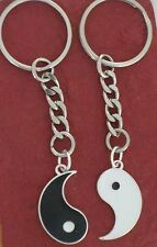 Yin Yang Keyring set share Charm metal keychain couple ying includes both bestie