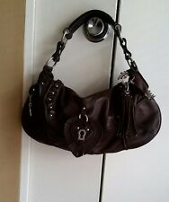 Juicy Couture Small/Med Dark Brown Leather Hobo Hand Bag STUNNING!