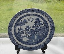 Wedgwood Willow Pattern Blue and White Luncheon Plate 23cm