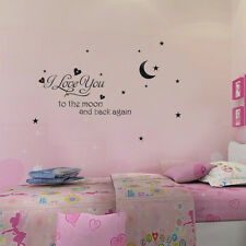 "DIY Removable "" I Love You Moon"" Art  Vinyl Wall Sticker Home Room Mural Decor"