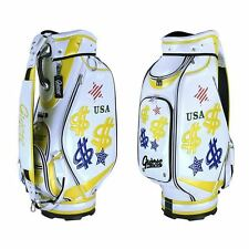 "NEW GUIOTE GOLF PREMIUM CADDIE STAFF CART BAG MR. MONEY BAGS 10"" TOP w/RAINHOOD"