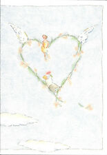 Happy Romance Anniversary Couple Heart Roses For Her Michel & Co Greeting Card