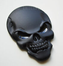 Self Adhesive Chrome 3D Metal Black Skull Badge for Ford Escort Ranger Puma TDi