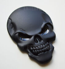 Self Adhesive Chrome 3D Metal Black Skull Badge for Toyota Aygo Avensis Corolla