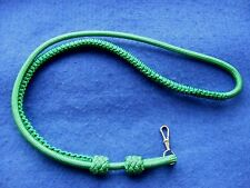HIGH QUALITY OFFICERS BRITISH ARMY MILITARY VIBRANT GREEN LANYARD + SWIVEL CLIP