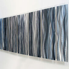 Huge Modern Abstract Metal Wall Art Sculpture Original - Ashen XL by Jon Allen