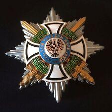 Königlicher Hausorden Hohenzollern Bruststern der Komute mit Schwertern Repro