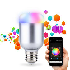 Wireless Bluetooth Control Music Audio Speaker LED RGB Smart Bulb Light Lamp E27