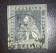 Antichi Stati Toscana 6 crazie n.7 firmato Diena