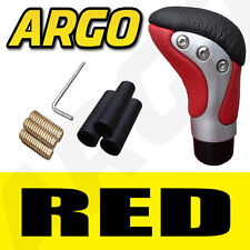 Rojo Negro Cromo Cuero Gear Shift Stick Palanca Perilla Volkswagen Vw Golf Plus