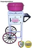 Electric Commercial Cotton Candy Maker Machine Cart Kit Floss Store Booth Sugar