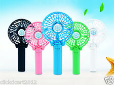 New Portable Foldable Mini Rechargeable Fan With Battery & USB Cable-Green