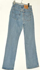 MENS TRUE VINTAGE LEVI 550 BLUE FADED RELAXED FIT JEANS W 32 L 33