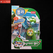 RoboCar Poli Hand Launcher Helly Heli Play set Flying Green Hellicopter 2016 New