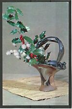 "USSR URSS 1976 New Year ikebana ""invierno tema"" Congratulation mc Mk n15 New!"